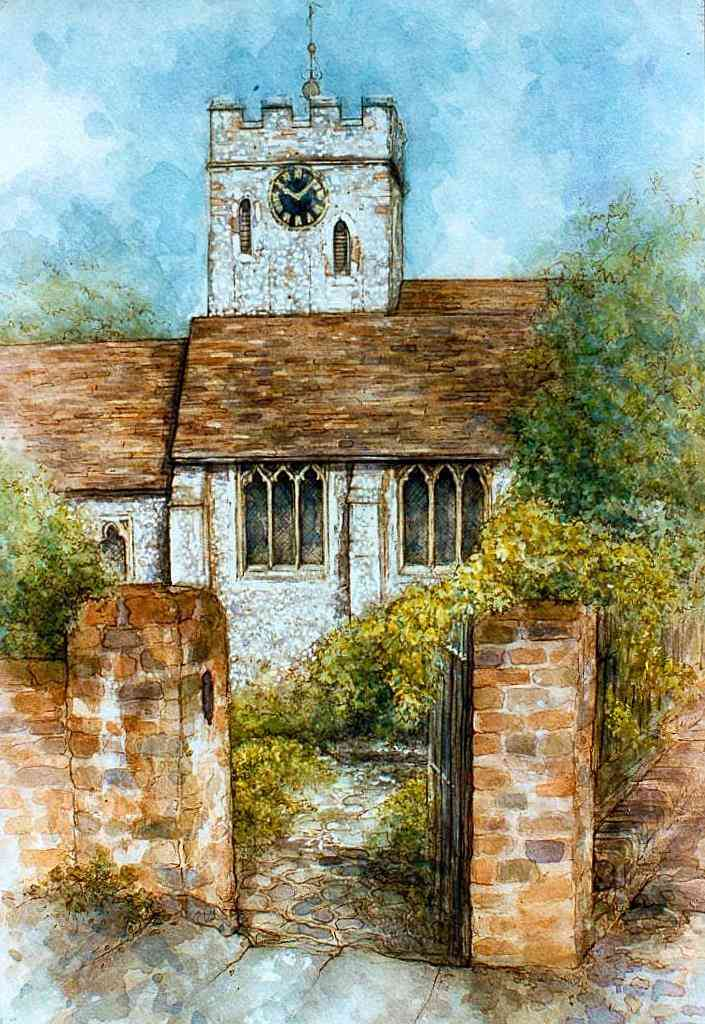 St Mary's church, Guildford by Sally Gorton